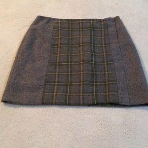 Size 6 banana republic gray wool skirt